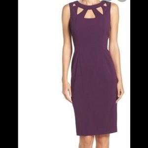 Purple Cutout Dress